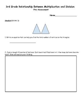 3rd Grade Common Core Relationship Between Multiplication