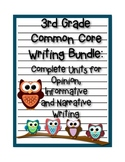 3rd Grade Common Core Writing Bundle: Opinion, Informative