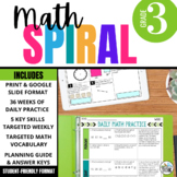 Third Grade Daily Math Spiral Review: 36-week Bundle (CCSS