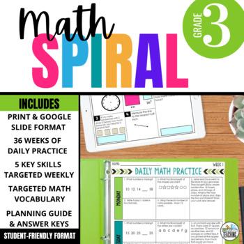 Third Grade Daily Math Spiral Review: 36-week Bundle (CCSS