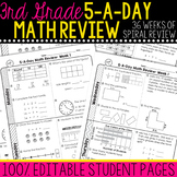 3rd Grade Daily Math Spiral Review | Morning Work