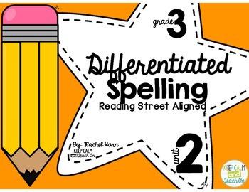 3rd Grade Differentiated Spelling Program Unit 2 - Reading