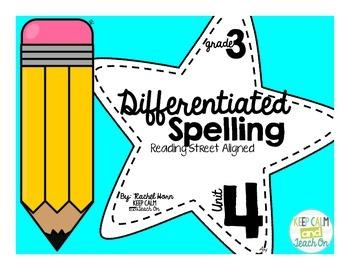 3rd Grade Differentiated Spelling Program Unit 4 - Reading