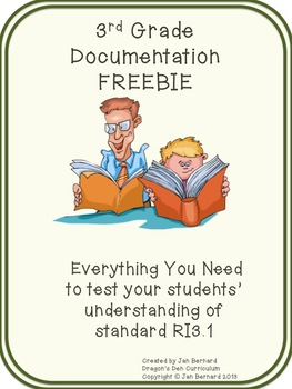 3rd Grade Documentation Freebie