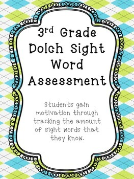 3rd Grade Dolch Sight Word Assessments