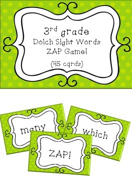 3rd Grade Dolch Sight Word Game