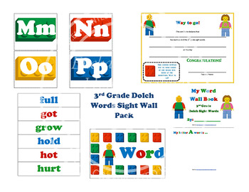 3rd Grade Dolch Words Sight Wall Pack