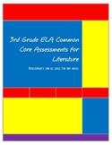 3rd Grade ELA Common Core Assessment for any novel