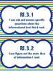 """3rd Grade ELA  """"I Can"""" Statements - Over 100 posters!"""