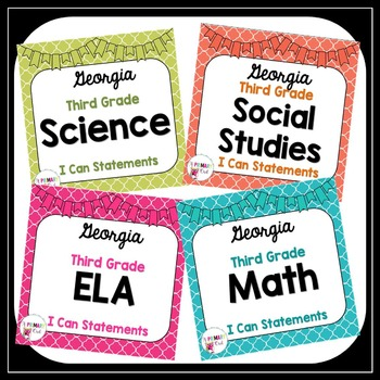 3rd Grade ELA, Math, Science and Social Studies I Can Stat
