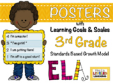 3rd Grade ELA Posters with Marzano Scales - Aligned to Com