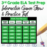 3rd Grade ELA Test Prep Game Show & Review Sheets FSA AIR