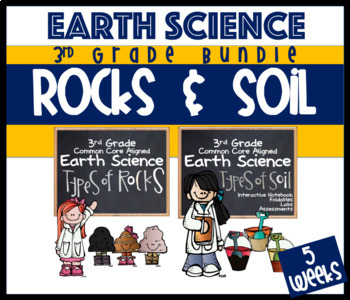 3rd Grade Earth Science Rocks, Minerals, Soil, Fossils & W