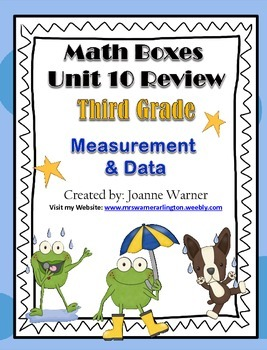 3rd Grade Everyday Math Review ~ Unit 10 Measurement & Data