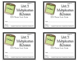 3rd Grade Everyday Math: Unit 4  Multiplication &Division