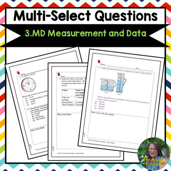 3rd Grade Multi-Select Questions (Measurement and Data)