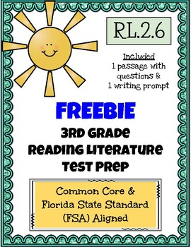 FREE! 3rd Grade FSA Reading Practice - 3.RL.2.6