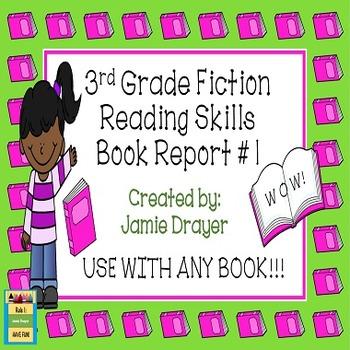 3rd Grade Fiction Book Report Trifold Brochure 1