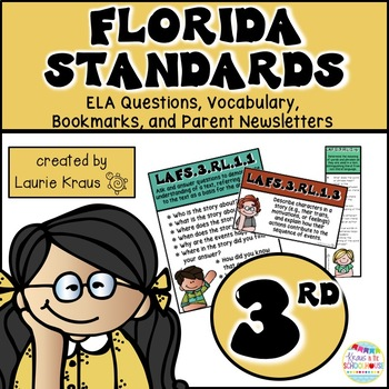 3rd Grade Florida Standards ELA Reading Literature and Inf