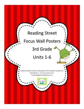 3rd Grade Focus Wall Posters Bundle Reading Street Grade 3