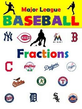 3rd Grade Fractions for Baseball Season
