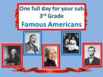 Famous Americans - Common Core Aligned Full Day For Your Sub