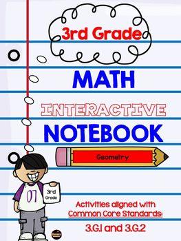 3rd Grade Geometry Interactive Notebook
