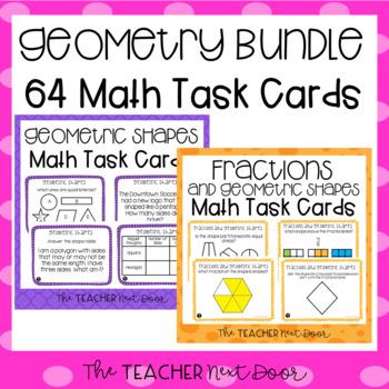 Geometry Task Cards for 3rd Grade