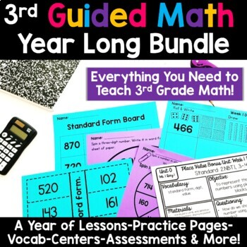 3rd Grade Guided Math -The Bundle