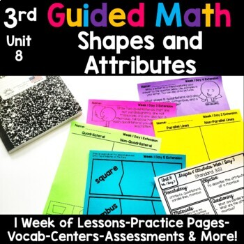 3rd Grade Guided Math -Unit 8 Shapes & Attributes