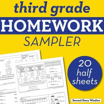 3rd Grade Homework Sampler