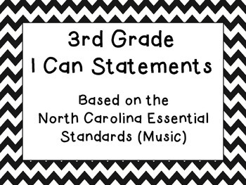 3rd Grade I Can Statements (NC Music)