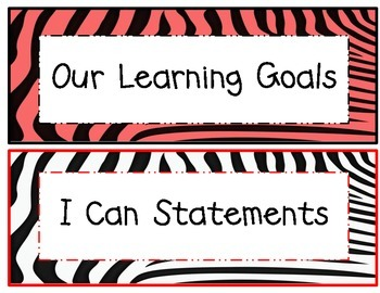 3rd Grade Common Core Math and ELA I Can Statements Red Ze