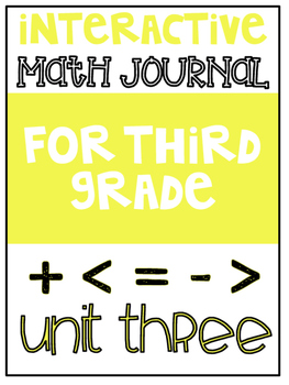3rd Grade Interactive Math Journal  | Go Math Chapter 3 (M