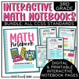 3rd Grade Interactive Math Notebook {BUNDLE}