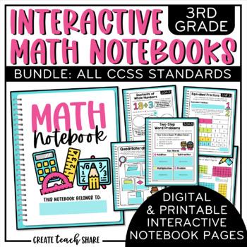 Interactive Math Notebook 3rd Grade BUNDLE