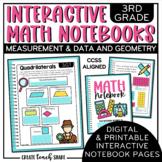 Interactive Notebook - 3rd Grade Math - Measurement & Data