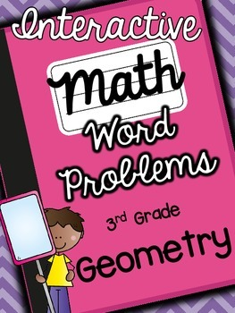 3rd Grade Interactive Math Notebook-Word Problems {GEOMETRY}