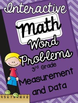 3rd Grade Interactive Math Notebook-Word Problems {MEASURE