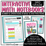 Interactive Notebook - 3rd Grade Math - NBT & NF