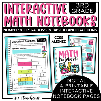 Interactive Math Notebook 3rd Grade Number and Operations