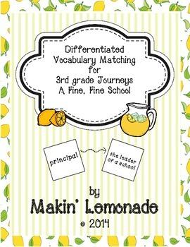 3rd Grade Journeys Fine, Fine School Differentiated Vocabu