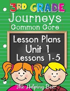 3rd Third Grade CCSS Journeys LA Unit 1 Common Core 5 Week