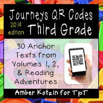 3rd Grade Journeys QR Codes for Listening Centers