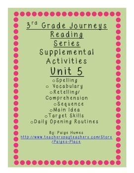 3rd Grade Journeys Reading Series Supplemental Activity Pa