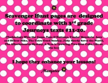 3rd Grade Journeys Scavenger Hunts Unit 3 and 4 - Texts 11