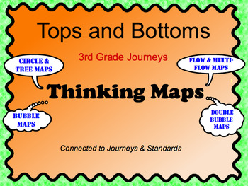 3rd Grade Journeys - Tops and Bottoms Thinking Maps