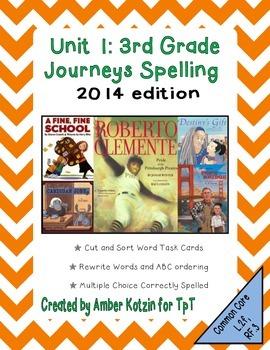 3rd Grade Journeys: Unit 1 Spelling Bundle