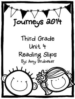 3rd Grade Journeys Unit 4 Reading Slips