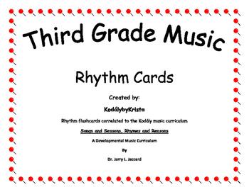 3rd Grade Kodaly Music Rhythm Flashcards